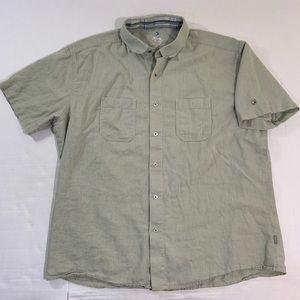 Kuhl Linen Blend Logo Button Front Shirt 2XL